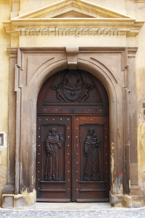 czech411: Doors of Saint James Church. Old Town. Mala Strana. Prague. Czech Republic - photo by H.Olarte - (c) Travel-Images.com - Stock Photography agency - Image Bank