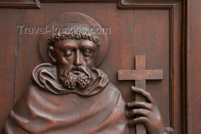 czech412: Detail from door at Saint James Church. Old Town. Mala Strana. Prague. Czech Republic - photo by H.Olarte - (c) Travel-Images.com - Stock Photography agency - Image Bank
