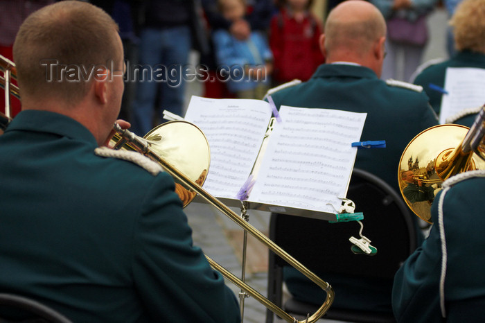czech414: Music band playing at the old town square (Staromestske namesti). Prague, Czech Republic - photo by H.Olarte - (c) Travel-Images.com - Stock Photography agency - Image Bank
