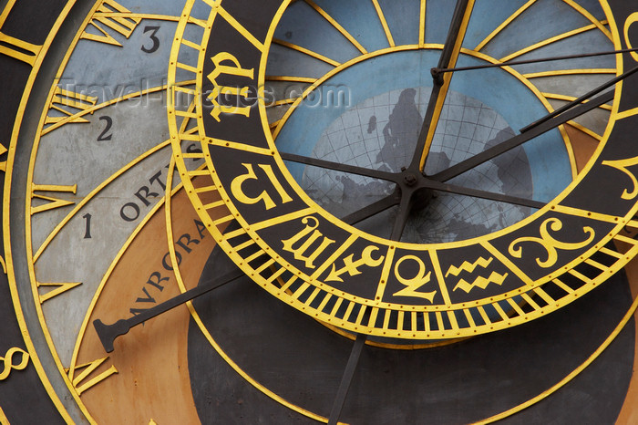 czech415: detail - Orloj, Astronomical Clock, Staromestske Namesti, Prague, Czech Republic - photo by H.Olarte - (c) Travel-Images.com - Stock Photography agency - Image Bank