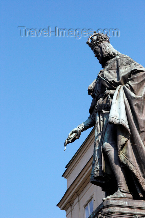 czech425: Charles IV statue. 1848. Mala Strana, Prague, Czech Republic - photo by H.Olarte - (c) Travel-Images.com - Stock Photography agency - Image Bank