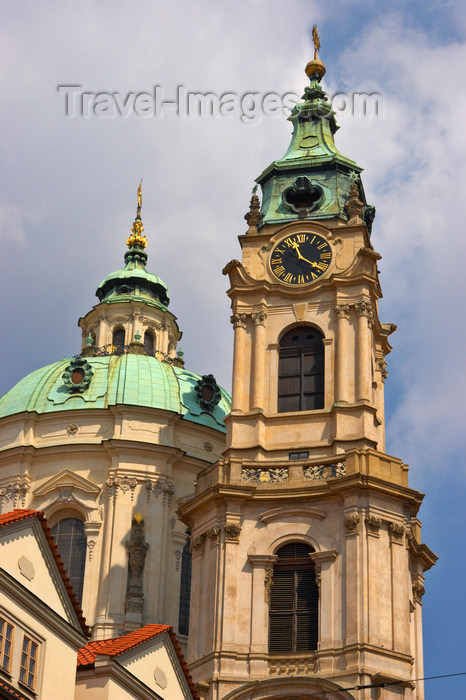 czech432: St. Nicholas Church - dome and tower - Prague, Czech Republic - photo by H.Olarte - (c) Travel-Images.com - Stock Photography agency - Image Bank