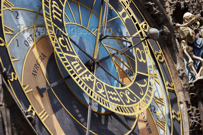 czech439: Orloj, Astronomical Clock - odd angle, Staromestske Namesti, Prague, Czech Republic - photo by H.Olarte - (c) Travel-Images.com - Stock Photography agency - Image Bank