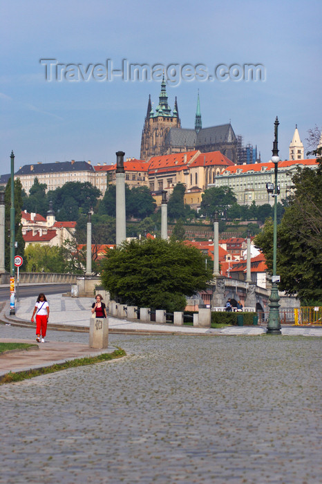 czech443: Prague Castle as seen from the Rudolfinum. Prague, Czech Republic - photo by H.Olarte - (c) Travel-Images.com - Stock Photography agency - Image Bank