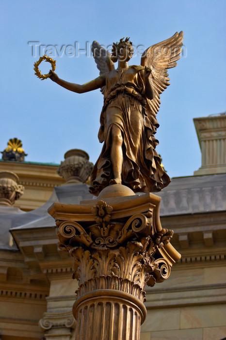 czech444: sculptures outside the Antonin Dvorak Concert Hall. Prague, Czech Republic - photo by H.Olarte - (c) Travel-Images.com - Stock Photography agency - Image Bank