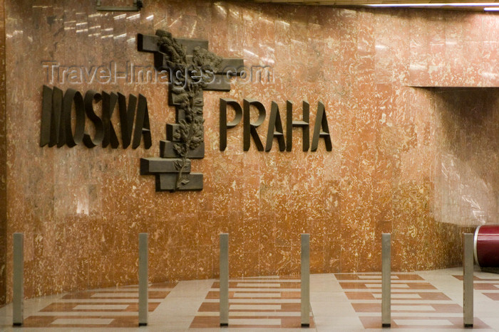 czech452: Moskva - Praha. Prague Subway system - memory of old alliances. Prague, Czech Republic - photo by H.Olarte - (c) Travel-Images.com - Stock Photography agency - Image Bank