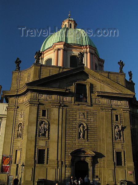 czech461: Prague, Czech Republic: Church of St Francis Seraphinus - photo by J.Kaman - (c) Travel-Images.com - Stock Photography agency - Image Bank