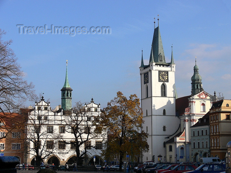 czech494: Czech Republic - Litomerice: Old Town Hall and All Saints Church - Usti nad Labem Region - photo by J.Kaman - (c) Travel-Images.com - Stock Photography agency - Image Bank