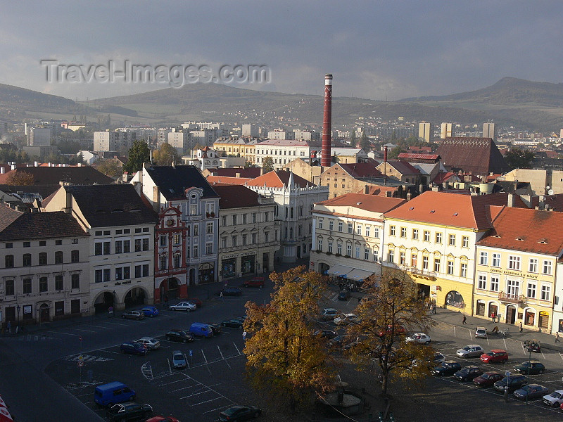 czech496: Czech Republic - Litomerice: main square, seen from Kalich observation tower  - Usti nad Labem Region - photo by J.Kaman - (c) Travel-Images.com - Stock Photography agency - Image Bank