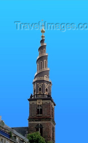 denmark18: Denmark - Copenhagen / København / CPH: spire - Church of Our Saviour -  Vor Frelsers Kirke - Skt. Annæ Gade - photo by J.Kaman - (c) Travel-Images.com - Stock Photography agency - Image Bank
