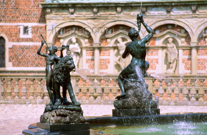 denmark27: Hillerød, North Zealand, Denmark: Fredeiksborg castle - statues in a fountain - photo by K.Gapys - (c) Travel-Images.com - Stock Photography agency - Image Bank