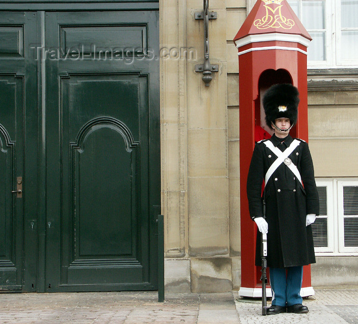 denmark67: Denmark - Copenhagen / København / CPH: guard at the Slot - photo by G.Friedman - (c) Travel-Images.com - Stock Photography agency - Image Bank
