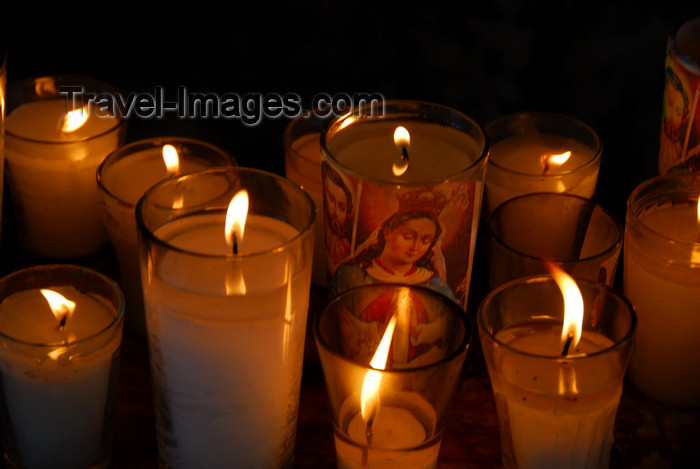 dominican117: Higüey, Dominican Republic: burning candles - Basilica of Our Lady - Basilica de Nuestra Señora de la Altagracia - photo by M.Torres - (c) Travel-Images.com - Stock Photography agency - Image Bank