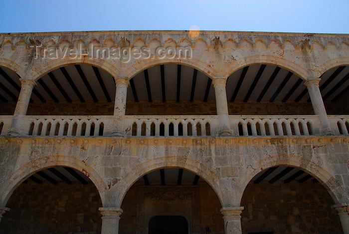 dominican2: Santo Domingo, Dominican Republic: Alcazar de Colon - mudejar arches - balcony - Ciudad Colonial - Unesco World Heritage - photo by M.Torres - (c) Travel-Images.com - Stock Photography agency - Image Bank