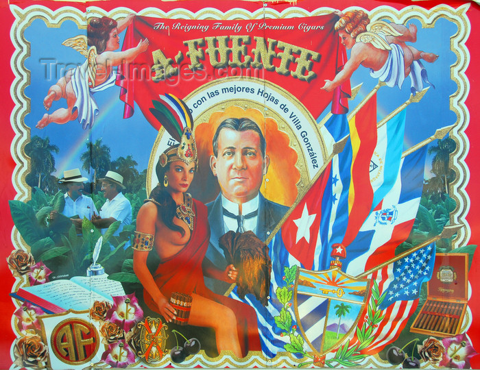 dominican229: La Romana, Dominican Republic: ad for A.Fuente cigars - photo by M.Torres - (c) Travel-Images.com - Stock Photography agency - Image Bank