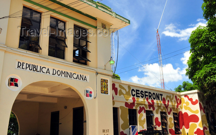 dominican242: Dajabón, Dominican Republic: Domincan customs building - border - photo by M.Torres - (c) Travel-Images.com - Stock Photography agency - Image Bank