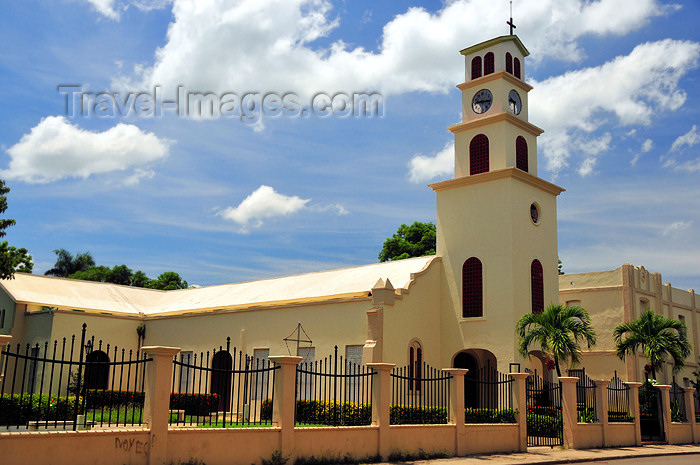 dominican243: Dajabón, Dominican Republic: Catholic church of Nuestra Señore del Rosário - photo by M.Torres - (c) Travel-Images.com - Stock Photography agency - Image Bank