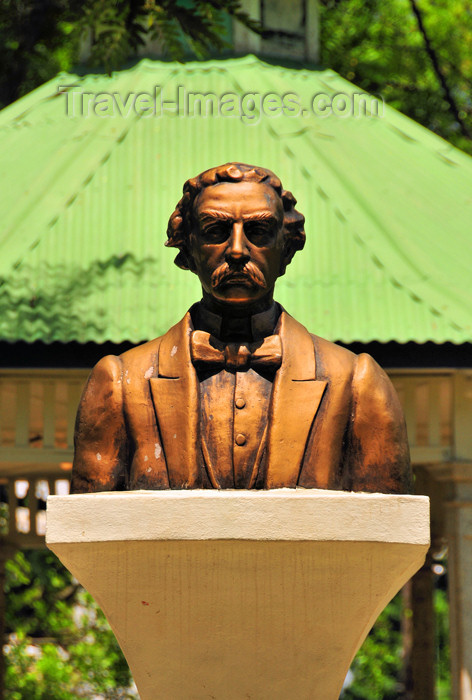 dominican244: Dajabón, Dominican Republic: bust of Juan Pablo Duarte, architect of the independence from Haiti - Parque Duarte - photo by M.Torres - (c) Travel-Images.com - Stock Photography agency - Image Bank