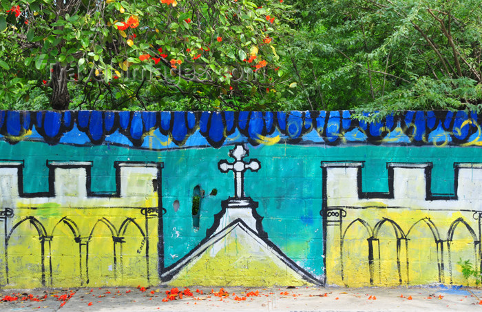 dominican252: Monte Cristi, Dominican Republic: mural on Plaza Duarte - photo by M.Torres - (c) Travel-Images.com - Stock Photography agency - Image Bank