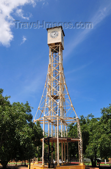 dominican254: Monte Cristi, Dominican Republic: Clock Tower - a XIX Century relic, made in France by Jean Paul Garnier and once standing in Saint-Germain-en-Laye - Reloj publico de Monte Cristi - photo by M.Torres - (c) Travel-Images.com - Stock Photography agency - Image Bank