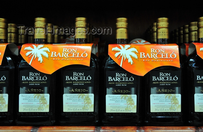 dominican274: El Catey, Samaná province, Dominican republic: aged rum - Ron Barceló - Dominican spirit - ron añejo - Samaná El Catey International Airport - photo by M.Torres - (c) Travel-Images.com - Stock Photography agency - Image Bank