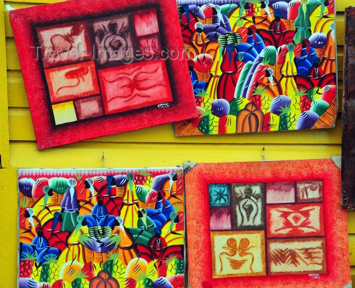 dominican281: Puerto Plata, Dominican republic: paintings by Dominican artists - Caribbean motives - photo by M.Torres - (c) Travel-Images.com - Stock Photography agency - Image Bank