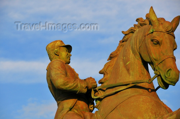 dominican316: Puerto Plata, Dominican republic: statue of General Gregorio Luperón - one of the founders of the Restauración masonic lodge - photo by M.Torres - (c) Travel-Images.com - Stock Photography agency - Image Bank