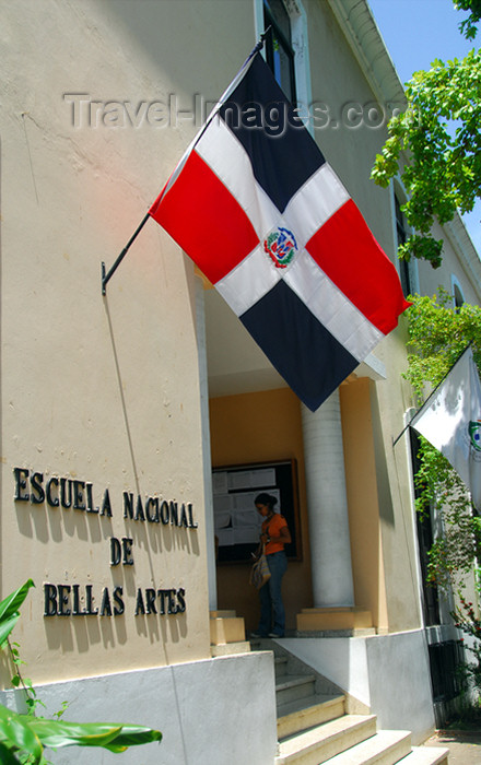 dominican91: Santo Domingo, Dominican Republic: Escuela Nacional de Bellas Artes - Eastern end of Calle El Conde - photo by M.Torres - (c) Travel-Images.com - Stock Photography agency - Image Bank