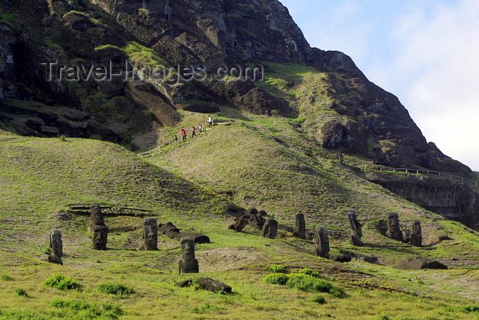 easter18: Easter Island  / Ilha da Pascoa / Isla de Pascua - Rano Raraku Quarry - photo by Rod Eime - (c) Travel-Images.com - Stock Photography agency - Image Bank