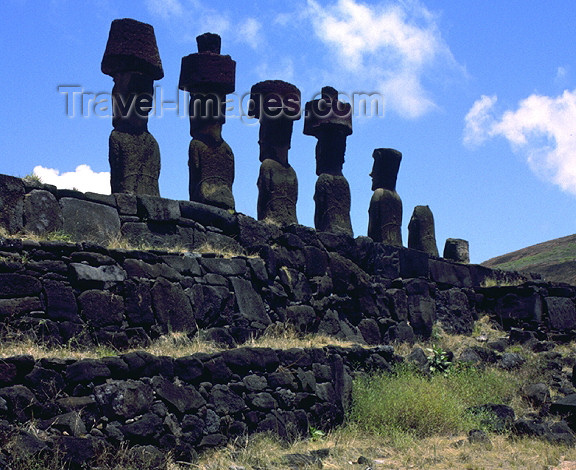 easter22: Easter Island: behind and Ahu Naunau - megaliths - photo by G.Frysinger - (c) Travel-Images.com - Stock Photography agency - Image Bank