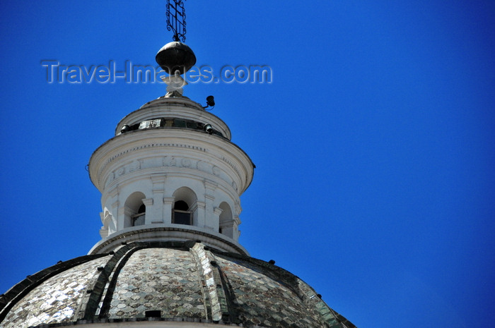 ecuador100: Quito, Ecuador: Plaza de la Merced - tiled dome with lantern of the Iglesia de La Merced - Church and Monastery of Our Lady of Mercy - photo by M.Torres - (c) Travel-Images.com - Stock Photography agency - Image Bank