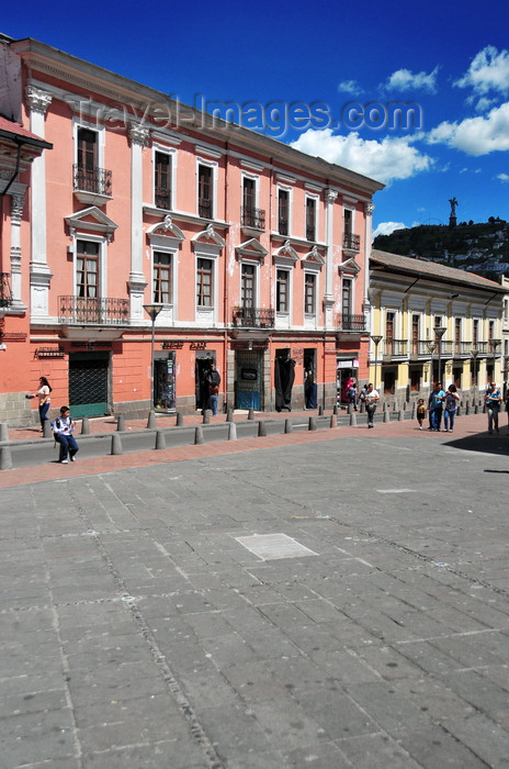 ecuador101: Quito, Ecuador: Plaza de la Merced - façades on Calle Cuenca - photo by M.Torres - (c) Travel-Images.com - Stock Photography agency - Image Bank