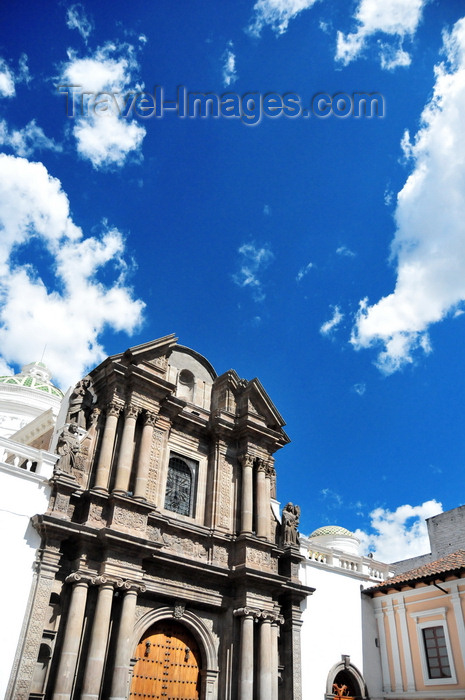 ecuador121: Quito, Ecuador: iglesia de El Sagrario - Church of the Shrine - late Baroque and Italian Renaissance styles - photo by M.Torres - (c) Travel-Images.com - Stock Photography agency - Image Bank
