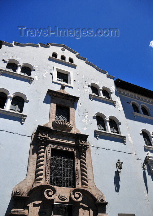 ecuador134: Quito, Ecuador: social security building on calle Olmedo, old Cuesta del Beaterio - Monte de Piedade del I.E.S.S. (Instituto Ecuatoriano de Seguridad Social) - photo by M.Torres - (c) Travel-Images.com - Stock Photography agency - Image Bank