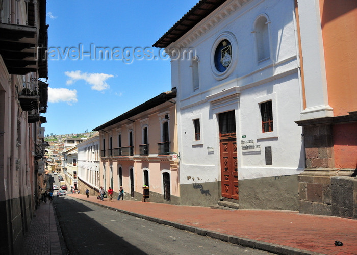 ecuador138: Quito, Ecuador: Calle Eugenio Espejo - Museum of the Monastery of Saint Catherine of Siena - Monasterio de Santa Catalina de Siena - photo by M.Torres - (c) Travel-Images.com - Stock Photography agency - Image Bank