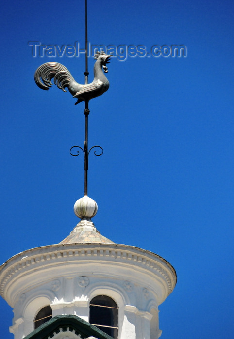 ecuador145: Quito, Ecuador: Catedral Metropolitana - Metropolitan Cathedral - weather vane with cockrel atop a dome's lantern - photo by M.Torres - (c) Travel-Images.com - Stock Photography agency - Image Bank