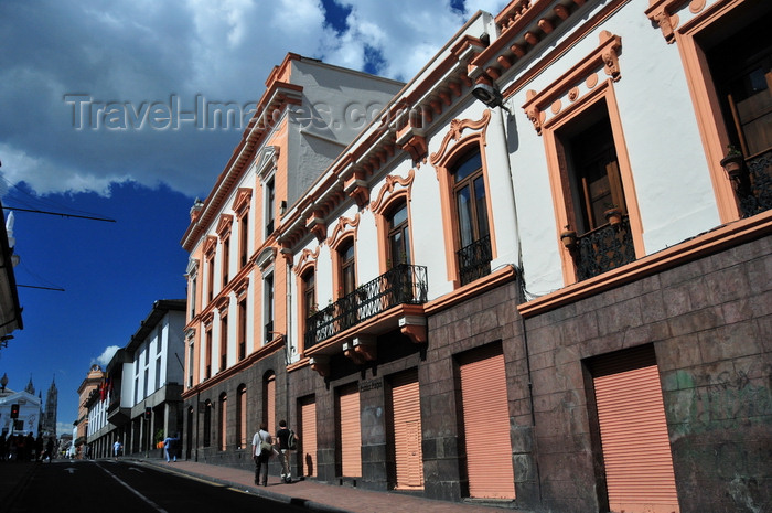 ecuador156: Quito, Ecuador: Calle Venezuela - looking towards Plaza Grande and Basilica del Voto Nacional - photo by M.Torres - (c) Travel-Images.com - Stock Photography agency - Image Bank