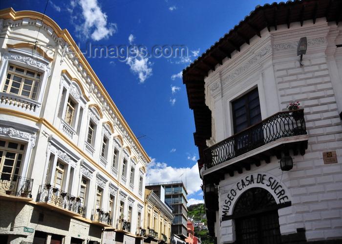 ecuador158: Quito, Ecuador: corner of Calles Venezuela and António José Sucre - Almacenes Brín and Sucre House museum / Museo Casa de Sucre - photo by M.Torres - (c) Travel-Images.com - Stock Photography agency - Image Bank