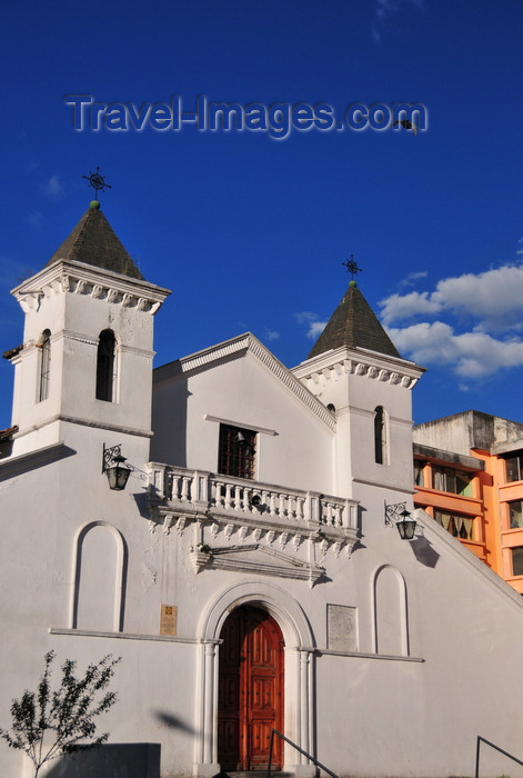 ecuador177: Quito, Ecuador: Capilla de El Belén - Bethlehem Chapel - XVII century Spanish colonial building - Calle Luis Sodiro - photo by M.Torres - (c) Travel-Images.com - Stock Photography agency - Image Bank