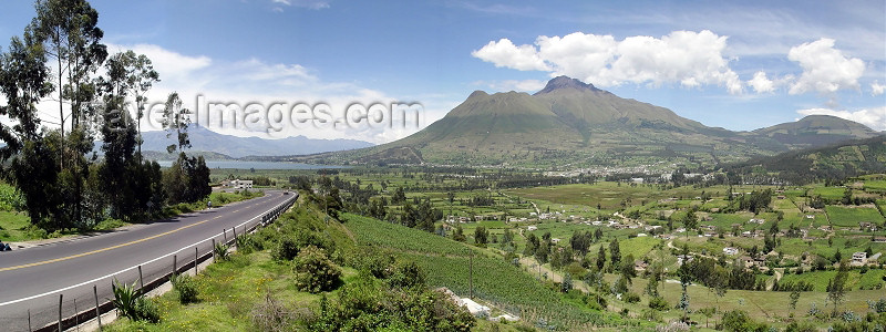 ecuador25: Ecuador -  Cayambe volcano  and road to Otavalo (photo by A.Caudron) - (c) Travel-Images.com - Stock Photography agency - Image Bank