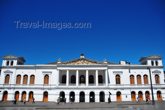 ecuador29: Quito, Ecuador: Plaza del Teatro / Plaza Chica - Teatro Sucre - main façade along calle Manabí - photo by M.Torres - (c) Travel-Images.com - Stock Photography agency - Image Bank