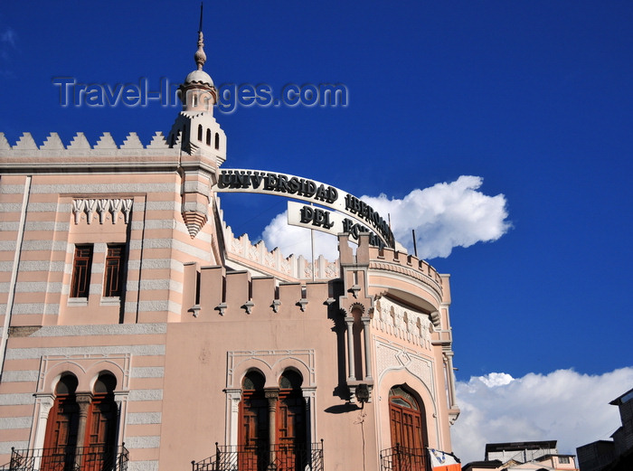 ecuador55: Quito, Ecuador: Iberian-American University - Moorish architecture - Gran Colombia avenue - Universidad Iberoamericana del Ecuador - photo by M.Torres - (c) Travel-Images.com - Stock Photography agency - Image Bank