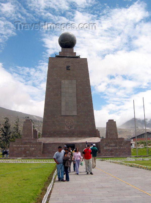ecuador6: Pichincha province: latitude zero - Equator monument (photo by Rod Eime) - (c) Travel-Images.com - Stock Photography agency - Image Bank