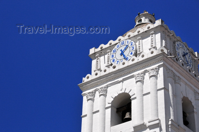 ecuador97: Quito, Ecuador: Plaza de la Merced - Iglesia de La Merced - Church and Monastery of Our Lady of Mercy - bell tower with clocks - photo by M.Torres - (c) Travel-Images.com - Stock Photography agency - Image Bank