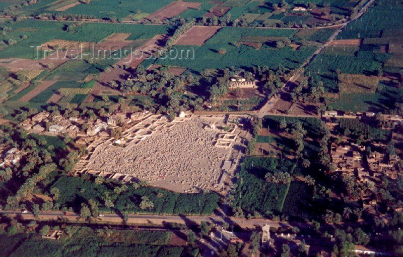 egypt39: Qena Governorate, Egypt: rural life in the fertile banks of the Nile - from the air - photo by M.Torres - (c) Travel-Images.com - Stock Photography agency - Image Bank
