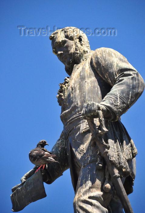 el-salvador31: San Salvador, El Salvador, Central America: plaza Morazán - statue of General José Francisco Morazán - photo by M.Torres - (c) Travel-Images.com - Stock Photography agency - Image Bank
