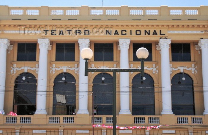 el-salvador32: San Salvador, El Salvador, Central America: National Theater - architect Daniel Beylard - plaza Morazán, Calle Delgado - Teatro Nacional - photo by M.Torres - (c) Travel-Images.com - Stock Photography agency - Image Bank