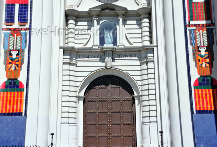 el-salvador37: San Salvador, El Salvador, Central America: Metropolitan Cathedral - entrance with a shrine of the Divine Saviour of the World, sculpted by Friar Francisco Silvestre García - photo by M.Torres - (c) Travel-Images.com - Stock Photography agency - Image Bank