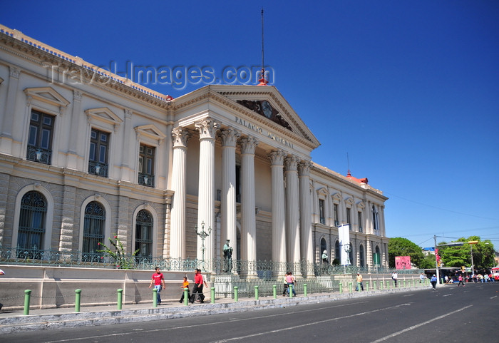 el-salvador42: San Salvador, El Salvador, Central America: Italian marble façade of the National Palace - Plaza Barrios - Palacio Nacional - photo by M.Torres - (c) Travel-Images.com - Stock Photography agency - Image Bank