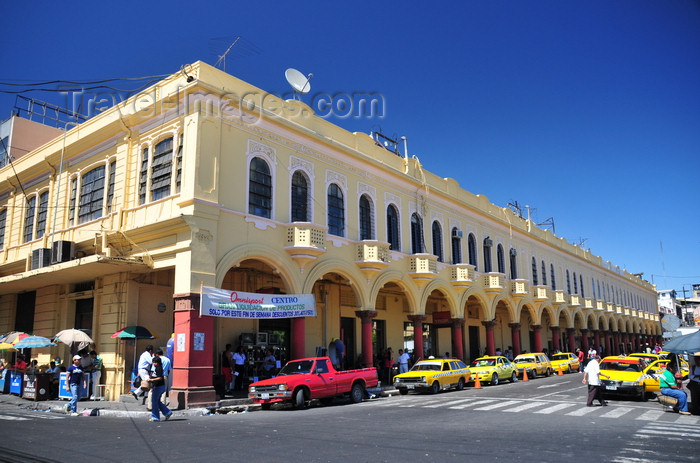 el-salvador47: San Salvador, El Salvador, Central America: Parque Libertad, former Plaza de Armas - the arcade - 'los portales' commercial arcade - photo by M.Torres - (c) Travel-Images.com - Stock Photography agency - Image Bank